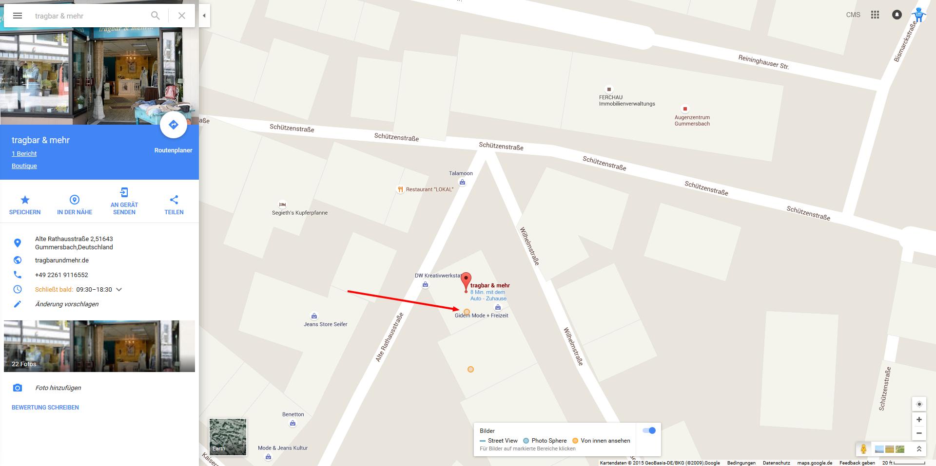tragbar mehr Google Maps 2015